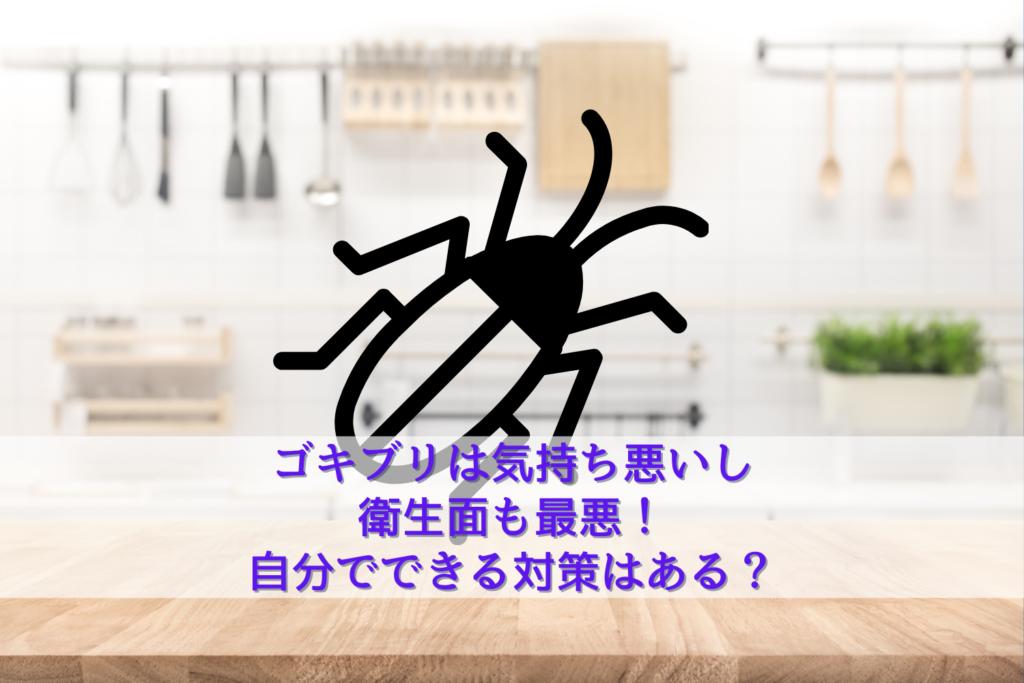 ゴキブリは気持ち悪いし衛生面も最悪!自分でできる対策はある?